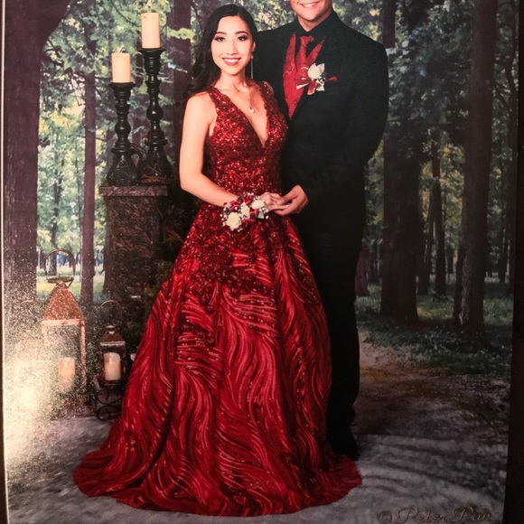 65687cf51d9 Dresses   Skirts - Bicici   Coty red maroon ball gown dress